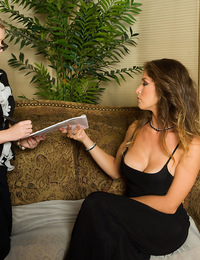 Felony easily corrupts office girl Sunny Lane with a sexy bout of spanking and in seconds has the hot blonde stripped naked from her prudish dress and